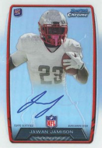 2013 Bowman Football Rookie Chrome Refractor Autographs Guide 58