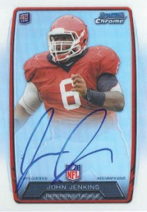 2013 Bowman Football Rookie Chrome Refractor Autographs Guide 19