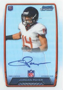 2013 Bowman Football Rookie Chrome Refractor Autographs Guide 59