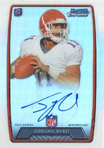 2013 Bowman Football Rookie Chrome Refractor Autographs Guide 20