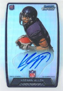 2013 Bowman Football Rookie Chrome Refractor Autographs Guide 60
