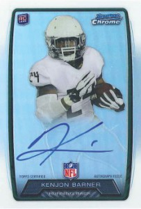 2013 Bowman Football Rookie Chrome Refractor Autographs Guide 21