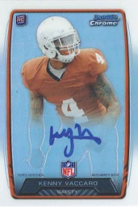 2013 Bowman Football Rookie Chrome Refractor Autographs Guide 23