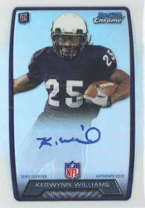 2013 Bowman Football Rookie Chrome Refractor Autographs Guide 63