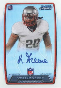 2013 Bowman Football Rookie Chrome Refractor Autographs Guide 22