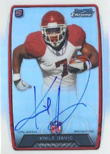 2013 Bowman Football Rookie Chrome Refractor Autographs Guide 61