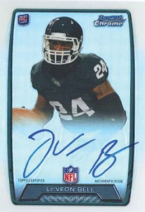 2013 Bowman Football Rookie Chrome Refractor Autographs Guide 24
