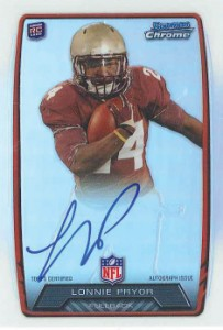 2013 Bowman Football Rookie Chrome Refractor Autographs Guide 65