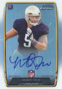 2013 Bowman Football Rookie Chrome Refractor Autographs Guide 30