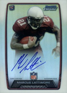 2013 Bowman Football Rookie Chrome Refractor Autographs Guide 29