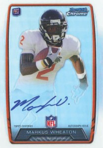 2013 Bowman Football Rookie Chrome Refractor Autographs Guide 70