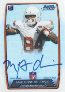 2013 Bowman Football Rookie Chrome Refractor Autographs Guide 68