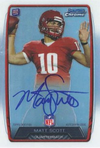 2013 Bowman Football Rookie Chrome Refractor Autographs Guide 69