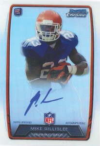 2013 Bowman Football Rookie Chrome Refractor Autographs Guide 28