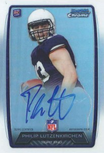 2013 Bowman Football Rookie Chrome Refractor Autographs Guide 31