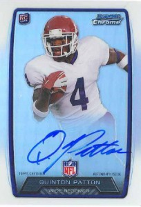 2013 Bowman Football Rookie Chrome Refractor Autographs Guide 71