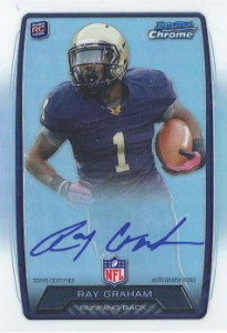 2013 Bowman Football Rookie Chrome Refractor Autographs Guide 32