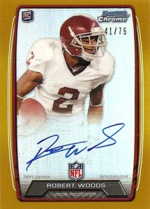 2013 Bowman Football Rookie Chrome Refractor Autographs Guide 73