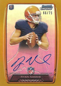 2013 Bowman Football Rookie Chrome Refractor Autographs Guide 72