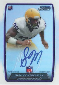 2013 Bowman Football Rookie Chrome Refractor Autographs Guide 74