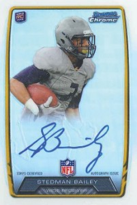 2013 Bowman Football Rookie Chrome Refractor Autographs Guide 34