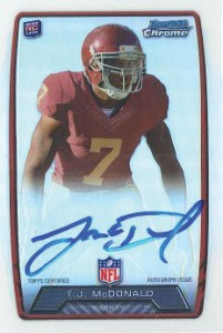 2013 Bowman Football Rookie Chrome Refractor Autographs Guide 38