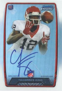 2013 Bowman Football Rookie Chrome Refractor Autographs Guide 78