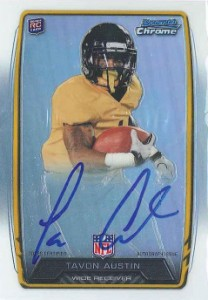 2013 Bowman Football Rookie Chrome Refractor Autographs Guide 76