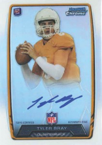 2013 Bowman Football Rookie Chrome Refractor Autographs Guide 37