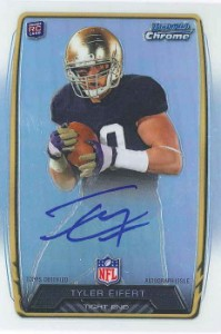 2013 Bowman Football Rookie Chrome Refractor Autographs Guide 77