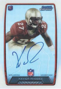 2013 Bowman Football Rookie Chrome Refractor Autographs Guide 79