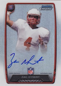 2013 Bowman Football Rookie Chrome Refractor Autographs Guide 40