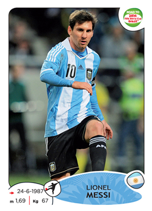 2013 Panini Road to 2014 FIFA World Cup Soccer Stickers 6