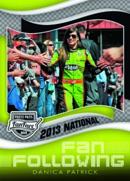 2013 Press Pass National Fan Following Danica Patrick