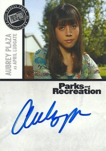 2013 Press Pass Parks and Recreation Autographs Aubrey Plaza