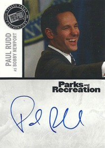 2013 Press Pass Parks and Recreation Autographs Paul Rudd