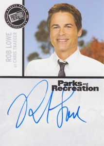 2013 Press Pass Parks and Recreation Autographs Rob Lowe