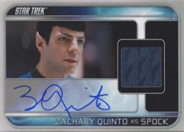 2013 Rittenhouse Star Trek Movies Collector Set Zachary Quinto Autographed Costume Card