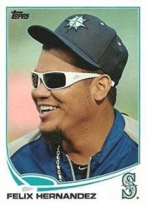 2013 Topps Series 2 Baseball Variations 34 Felix Hernandez