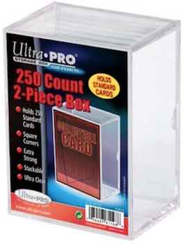 Ultra Pro Hinged 25 Card Storage Box 100//box