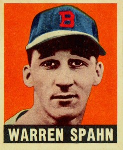 Top 10 Warren Spahn Baseball Cards 10