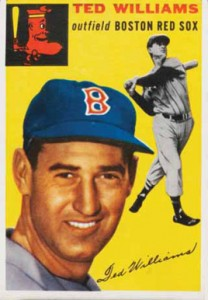 1954 Topps Ted Williams Card# 250