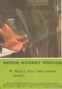 1966 Donruss Green Hornet Trading Cards 2