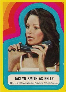 1977 Topps Charlie's Angels Series 3 Stickers 30 Jaclyn Smith as Kelly