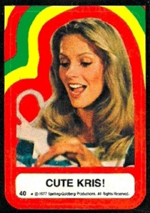 1977 Topps Charlie's Angels Series 4 40 Cute Kris