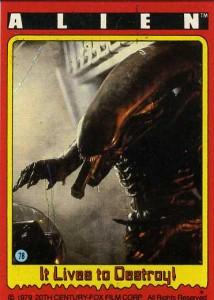 1979 Topps Alien Trading Cards 1