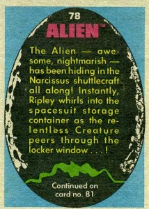 1979 Topps Alien Trading Cards 2