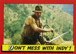1984 Topps Indiana Jones and the Temple of Doom Trading Cards 1