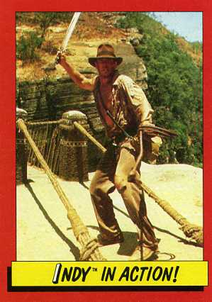 1984 Topps Indiana Jones and the Temple of Doom Trading Cards 21