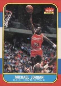 1986-87 Fleer Basketball Michael Jordan Real Front